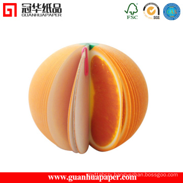 2015 New Style 3D Orange Fruits Shaped Sticky Notes for Kids