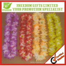 Collier de fleur de Hawaii de promotion adaptée aux besoins du client