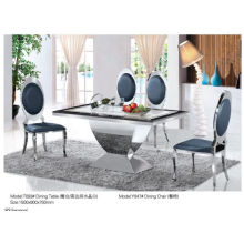 Modern Rectangle Dining Table with Glass