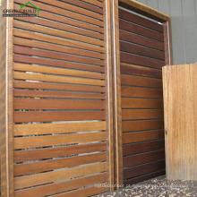 Decapé de jardim de madeira de merbau crack-resistente afligido Natural