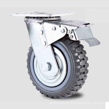 Roue à roue PU à roulettes à pédale à double pédale de type lourd à usage doux (KHX3-H4-A)