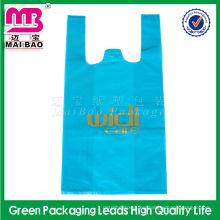 Biodegradable en rollo HDPE le agradece comprar camisetas plásticas impresas personalizadas de la camiseta