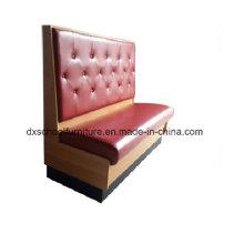 Causeuse de canapé de couleur rouge à deux places
