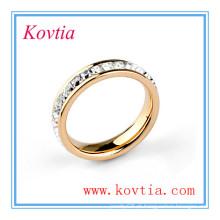 Trendy cristal elemento anel de casamento 827100 mexicano jóias naturais diamante