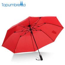 paraguas con el logo imprime 2 veces las importaciones chinas al por mayor Alto grado paraguas a prueba de viento 2 veces automático