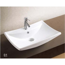 Porcelain Sanitary Ware Wash Basin with Bathroom Accessories (W7146)