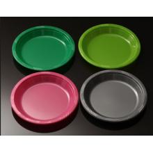 Plato de la cena al por mayor platos plásticos desechables bandeja multicolor