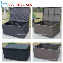 Открытый водонепроницаемый большой ящик для хранения ротанга