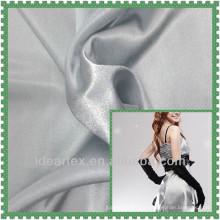 Tecido de cetim de poliéster para o vestido da senhora