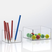 Simple Clear Perspex Tray, Acrylic Organizer for Office Supplies