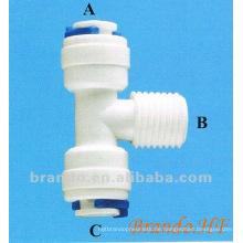 Schnelle Montage mit Gewinde Typ T-Stück Stecker für Wasseraufbereitung