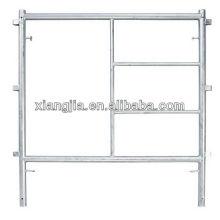 Passo Frame sistema de andaimes dois quadro principal dois cinta cruz quatro pino comum