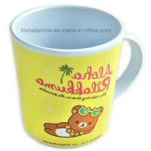 Taza de la melamina de los niños con el logotipo