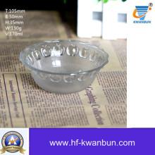 Cuvette en verre à usage quotidien Bol en verre transparent Ustensiles de cuisine Kb-Jh06073
