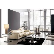 Sofá de cuero genuino de la sala de estar (908)