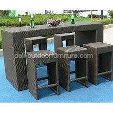 PE mimbre al aire libre Patio taburetes muebles