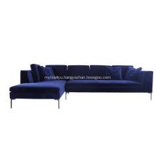 Modern Fabric Charles Corner Sofa