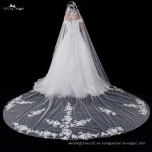 TA040 Exquisite Applique una capa de novia Veils