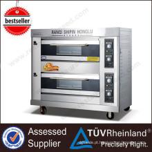 Shinelong Industrial Gas / Electric K263 2-Layer 4-Tray Cozinha Forno Fabricantes Cupcakes Mini Forno a gás