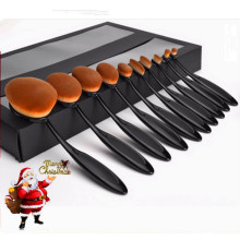 10PCS Eye Blending Cosmetic Brush Grossiste Oval Makeup Brush