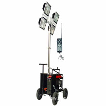 Mobile Lighting Tower With LED Light