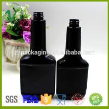 Botella plástica vendedora caliente de la gasolina del negro del ANIMAL DOMÉSTICO de 350ml para la industria