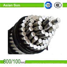 Obenliegender heißer eingetauchter galvanisierter Stahl verstärktes ACSR Draht