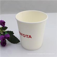 Copos de café de papel descartáveis impressos logotipo com tampa