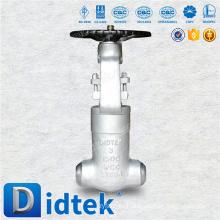 Didtek Top Quality 3 '' с масляным сварным затвором 1500LB с маховичком