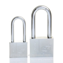Yalian Safe Long Shackle Square Chrome Plated Iron Padlock with Vane Key