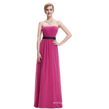 Starzz Strapless Off Shoulder Deep Pink Long Chiffon Bridesmaid Dress Patterns ST000066-3