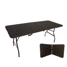 6FT Популярные Rattan Design Работа пластиковых складных столов для использования в свободное время