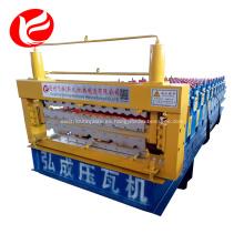 Rollo galvanizado de la hoja de la techumbre de la capa doble que forma la máquina