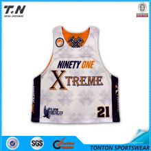 Sublimación de tinte personalizado Lacrosse Jersey