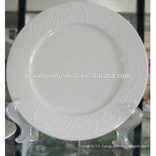 white porcelain flat plate