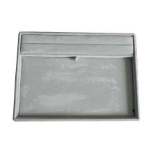 Bac à rangement d'affichage à bijoux multiples en velours gris (TY-RF-GV)