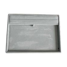 Bandeja de armazenamento de exibição de jóias macias de veludo cinza (TY-RF-GV)