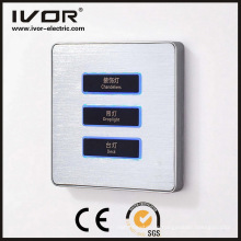 3 Gangs Beleuchtung Schalter Touch Panel Aluminiumlegierung Material (AD-ST1000L3)