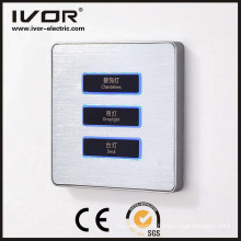 3 Gangs Lighting Switch Touch Panel Aluminum Alloy Material (AD-ST1000L3)