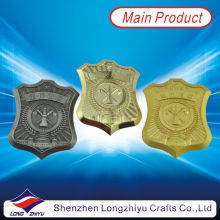 Металлическая полиция Золотая серебряная бронзовая трофейная доска