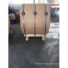 Aluminum coil for pipeline insulation material