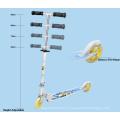 В сложенном виде самокат с PU колеса 125мм (ВХ-2MBC125)