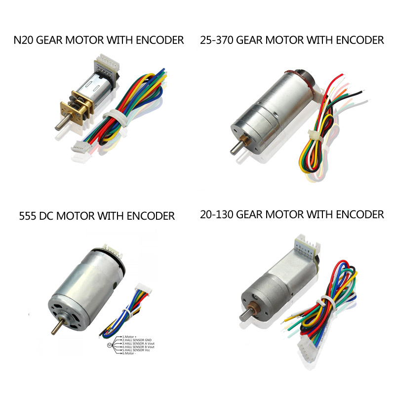 China manufacturer of small gear motor with encoder dc for Dc gear motor with encoder