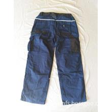 Man's Long Blue Baggy Working Pants