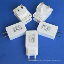 Adaptateur secteur USB avec UL / cUL GS Ce SAA FCC approuvé