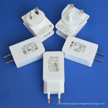 Adaptador de corriente USB con certificación UL / cUL GS Ce SAA FCC
