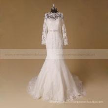 Robe de mariée à manches longues de style nouveau style