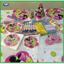 Minnie Mouse Bowtique Vajilla infantil para fiestas de cumpleaños