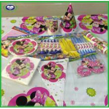 Utensílios de mesa da festa de anos das crianças de Minnie Mouse Bowtique