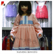 children pink long sleeve o neck dress